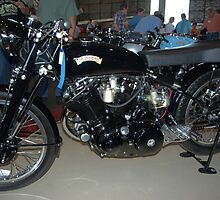 1952 Vincent Black Lighting Motorcycle by TeeMack