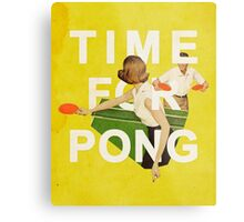 Time for Pong Metal Print