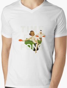 Time for Pong Mens V-Neck T-Shirt