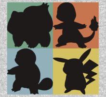 Pokemon - Kanto Starter Design Kids Clothes