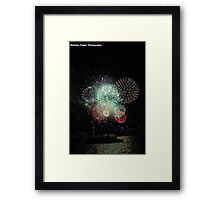 NYE Fireworks Sydney Framed Print