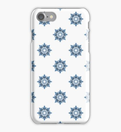 Winter pattern of snowflakes. Abstract snowy background for textiles.  iPhone Case/Skin