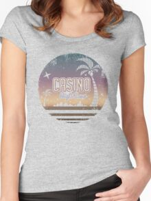 Sonic 2 - Casino Night Zone (Distressed) Women's Fitted Scoop T-Shirt
