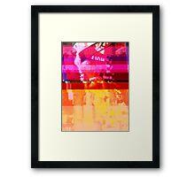 New York Glitch 11 Framed Print