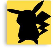 Pokemon - Pikachu Silhouette Design  Canvas Print