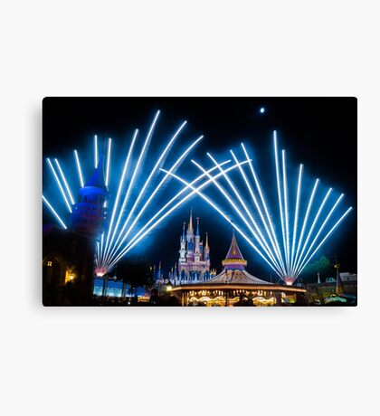 Just Do As Dreamers Do - Wishes Fireworks at Magic Kingdom Canvas Print