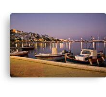 Beautiful evening on Crete, Greece Canvas Print