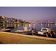 Beautiful evening on Crete, Greece Photographic Print