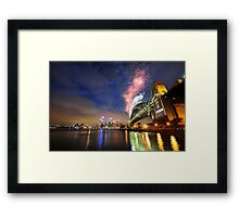 Sydney Fireworks NYE 2009 Framed Print