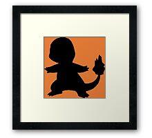 Pokemon - Charmander Silhouette Design Framed Print