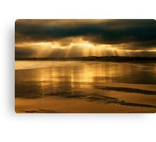 Donabate Strand in December Canvas Print