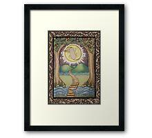 The Moon Tarot Fantasy Card Framed Print