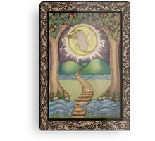 The Moon Tarot Fantasy Card Metal Print