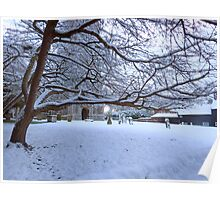 The Village Church after the snow, Foulsham Norfolk Poster