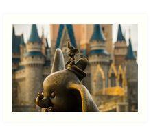 Timothy Mouse and Dumbo at Magic Kingdom Park Art Print