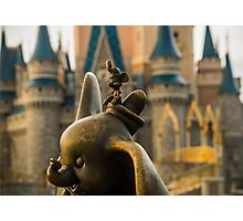 Timothy Mouse and Dumbo at Magic Kingdom Park Photographic Print