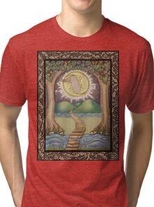 The Moon Tarot Fantasy Card Tri-blend T-Shirt