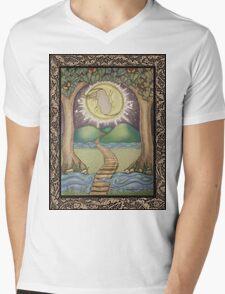 The Moon Tarot Fantasy Card Mens V-Neck T-Shirt