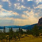 Sun Rays - Columbia River, Oregon by rjhphoto