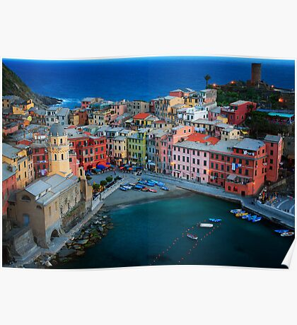 Vernazza Evening Poster