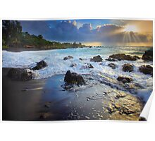 Hana Bay Sunrise Poster