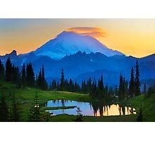 Mount Rainier Goodnight Photographic Print