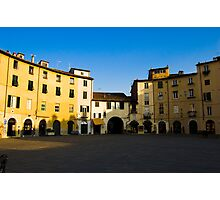 Round Piazza - Lucca, Italy Photographic Print
