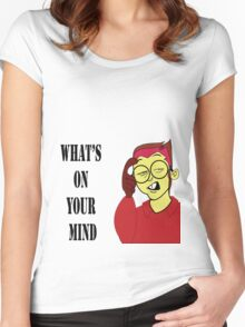 Cartoon  T-Shirt  Women's Fitted Scoop T-Shirt