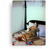 Doll on Four Poster Bed Canvas Print