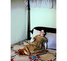 Doll on Four Poster Bed Photographic Print