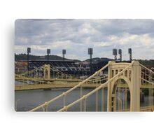 Bridges and  PNC Park  Canvas Print