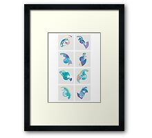 Pixel Grid Framed Print