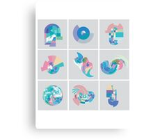 Pastel Pixel Grid swirls Canvas Print