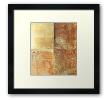 Speeches Oxide 2 - abstract painting on canvas Framed Print