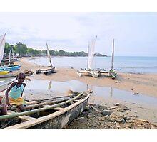 a desolate Sao Tome and Principe landscape Photographic Print