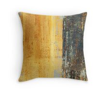 Venice Wall 1 - original acrylic abstract painting on panel Throw Pillow