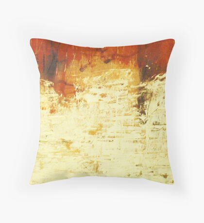 Venice Wall 2 - original acrylic abstract painting on panel Throw Pillow