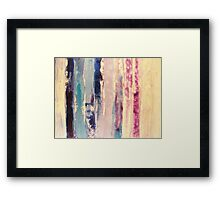 waters 2 - original abstract acrylic painting on canvas Framed Print