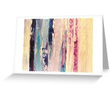 waters 2 - original abstract acrylic painting on canvas Greeting Card
