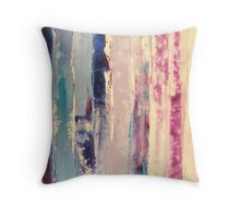 waters 2 - original abstract acrylic painting on canvas Throw Pillow