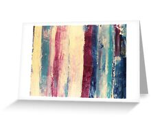 Waters 3 - original abstract acrylic painting on canvas Greeting Card