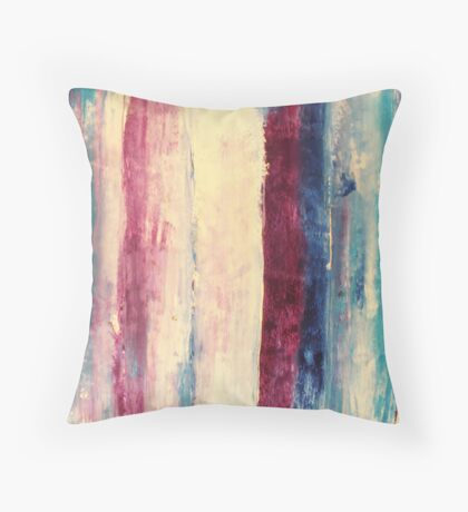 Waters 3 - original abstract acrylic painting on canvas Throw Pillow