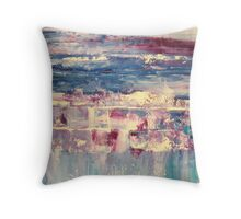 Waters 4 - original abstract acrylic painting on canvas Throw Pillow
