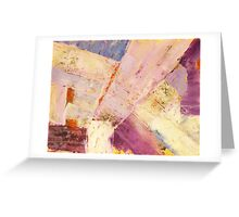 Waters 1 - original abstract acrylic painting on canvas Greeting Card