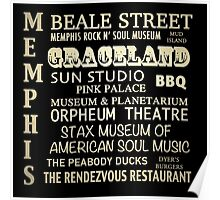 Memphis Tennessee Famous Landmarks Poster