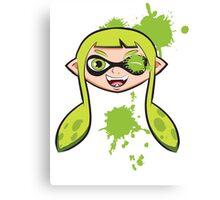 Splatoon Green Canvas Print