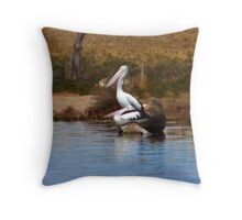 Pelicans - Resting Throw Pillow