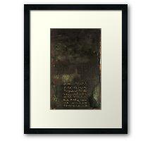 Dark Chant - original acrylic painting on wood panel Framed Print