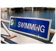 """O"" Swimming - Lee Riverfront Park, Tampa, Florida Poster"