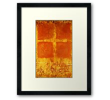 Cross Chant - original mixed-media painting on wood panel Framed Print